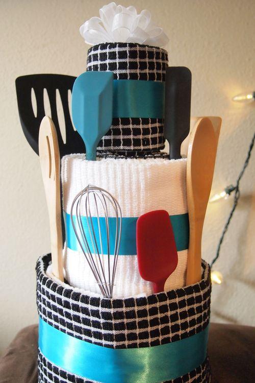 Unique Bridal Shower Gift Ideas To Make : Bridal Shower Towel CakeLeona Lane
