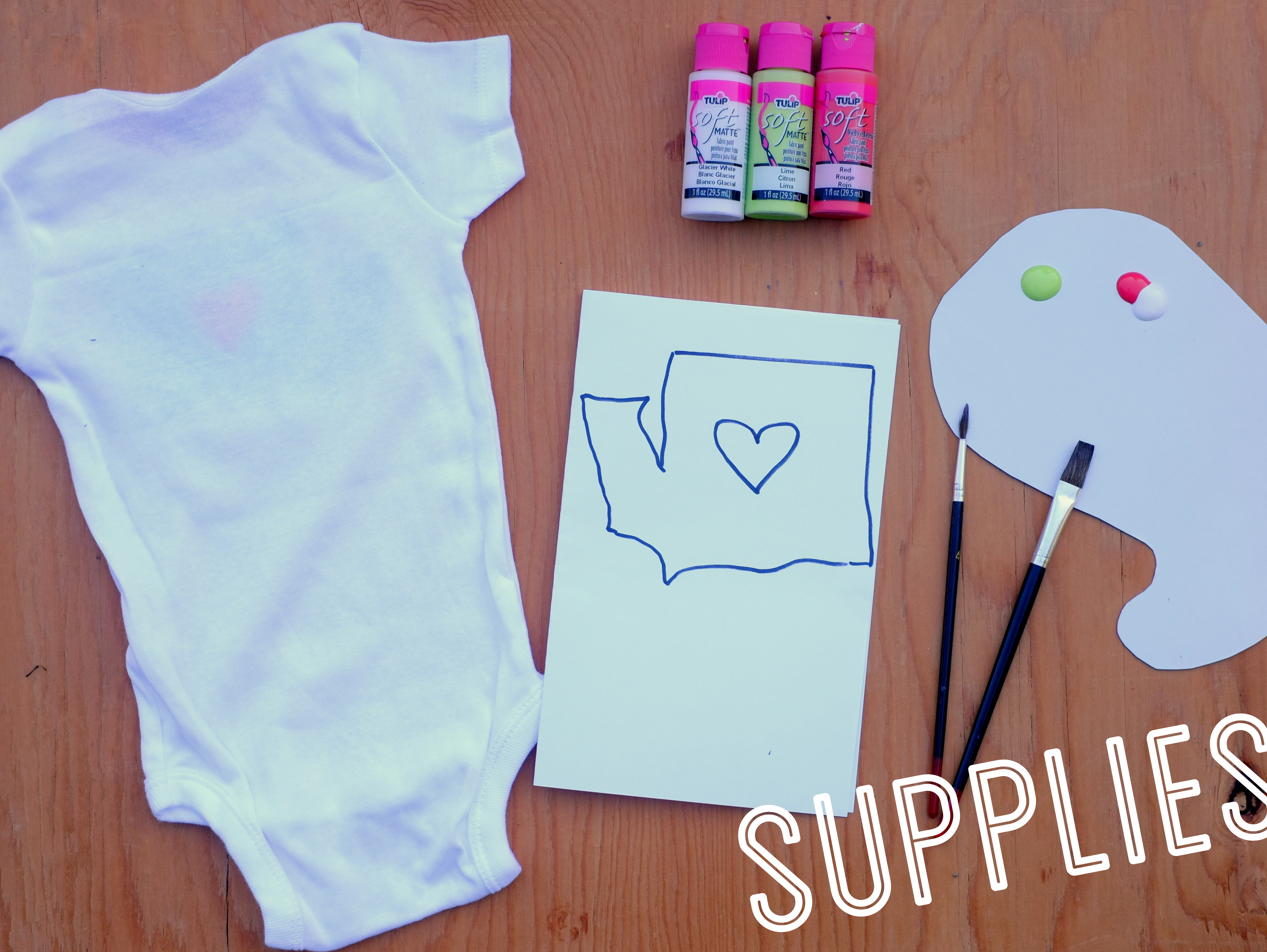 Personalized baby onesies leona lane what you will need diyfabpaint negle Gallery