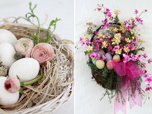 Flowers and eggs