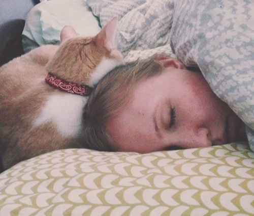 Grateful for naps with my cat