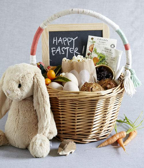 Natural easter basket