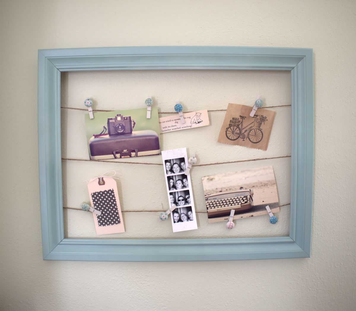 Diy inspiration frame leona lane this is a really easy and fun little do it yourself project you can personalize it to match your decor really easily plus you can change things out as jeuxipadfo Image collections