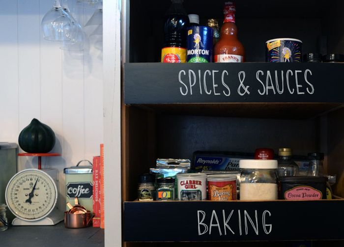 Pantry-Organizing-with-Chalkboard-Paper
