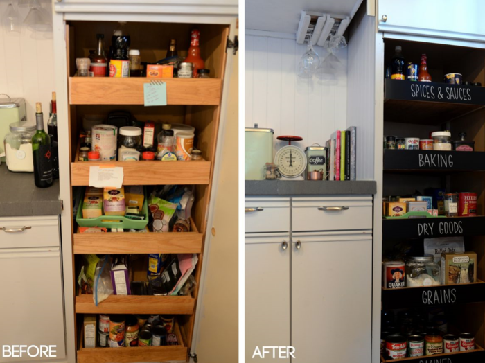 Pantry DIY Before&After